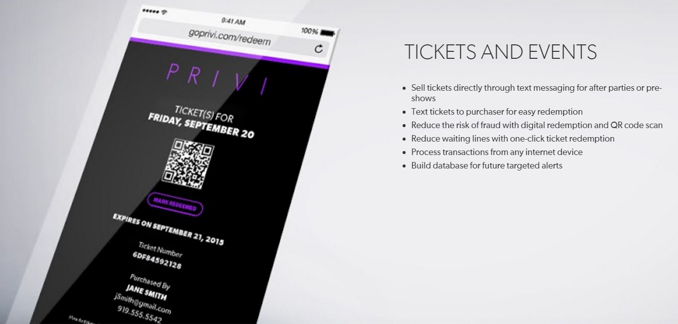 Privi Tickets