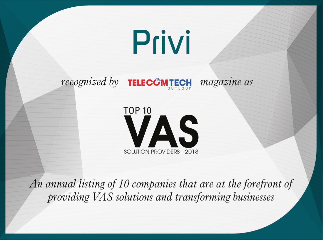 Telecom Tech Outlook Top 10 Vas Provider Certificate Goprivi
